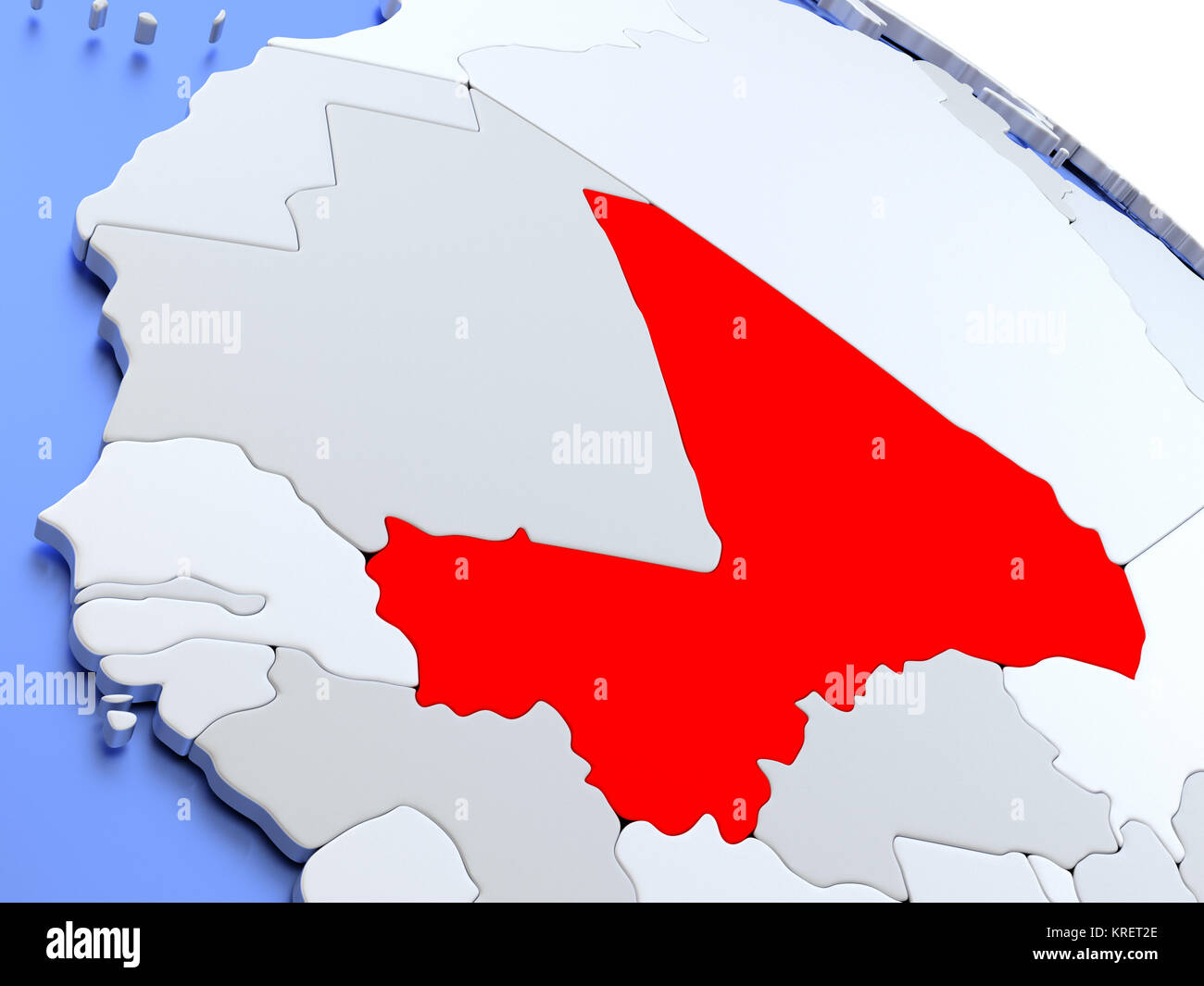 Mali Country Map Stock Photos Mali Country Map Stock Images Alamy
