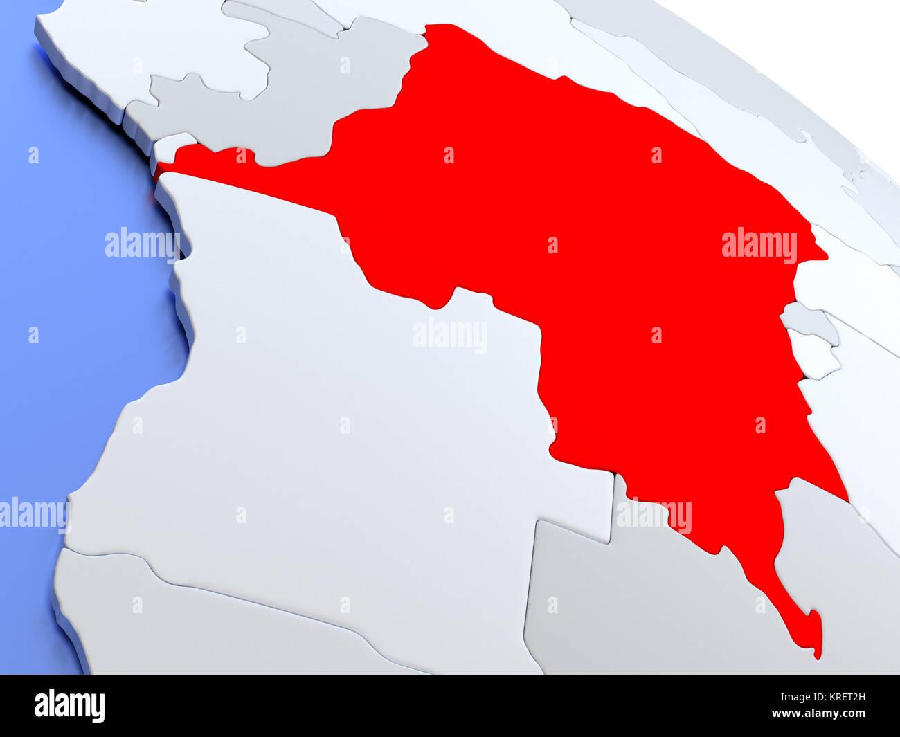Democratic Republic Of Congo On World Map Stock Photo 169356617 Alamy