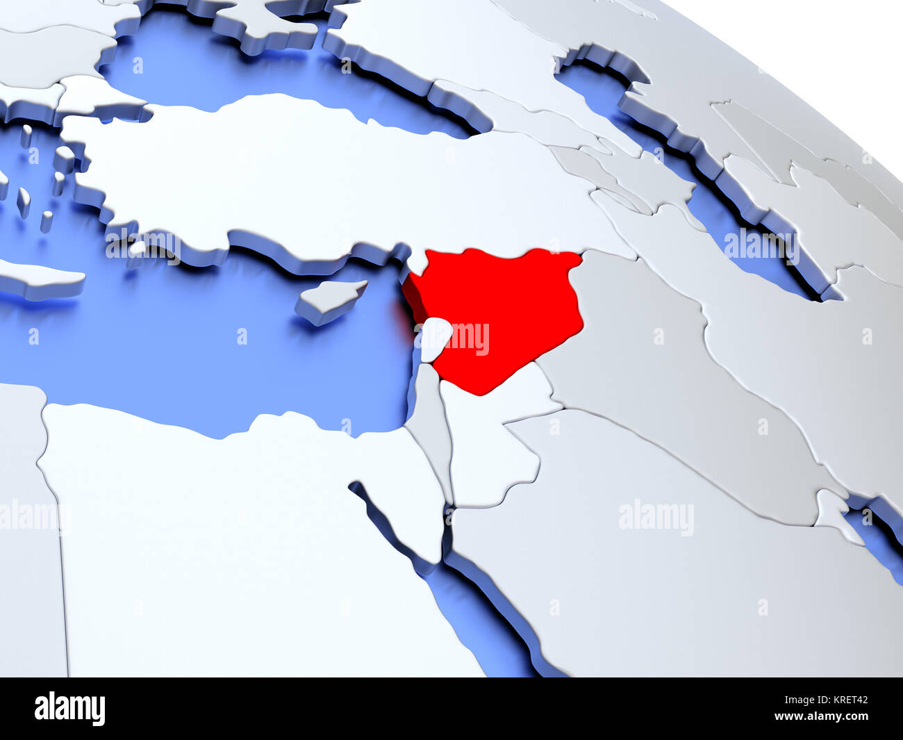 Syria map 3d stock photos syria map 3d stock images alamy syria on world map stock image publicscrutiny Gallery