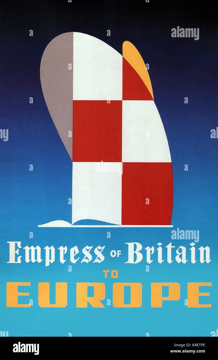 Empress of Britain to Europe - Stock Image