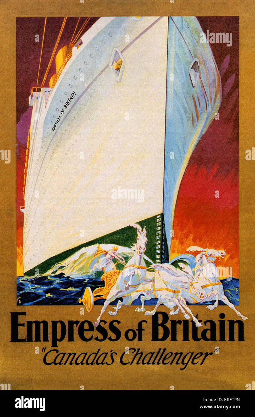 Empress of Britain to Europe, Canada's Challenger - Stock Image