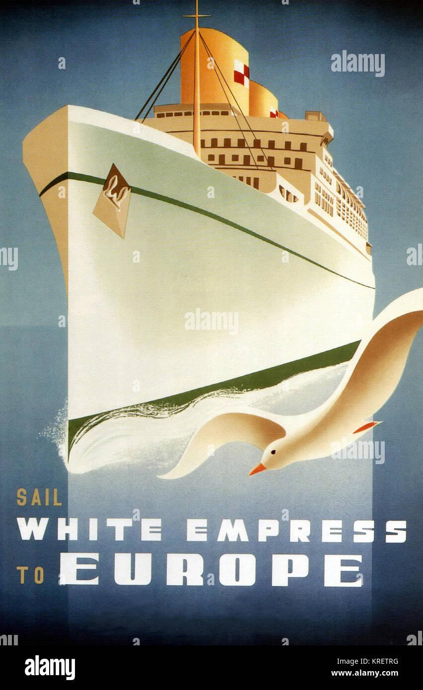 White Empress to Europe - Stock Image