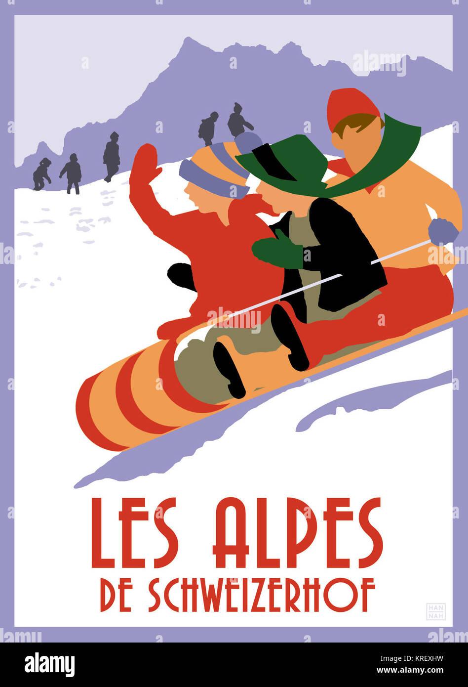 Les Alpes De Schweizerhof - Stock Image