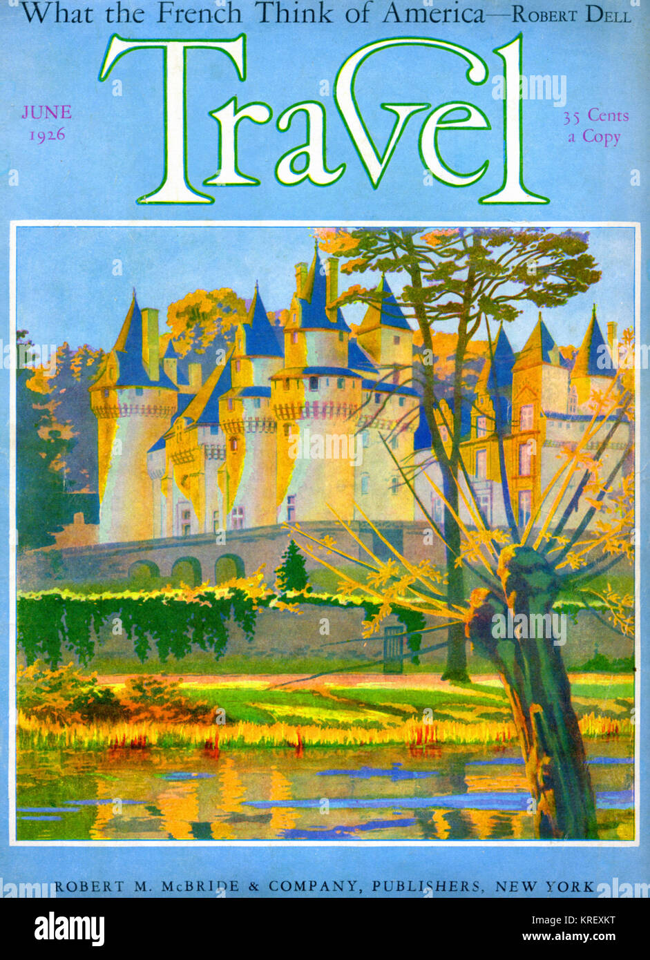 Pravel Magazine Cover French Chateau - Stock Image