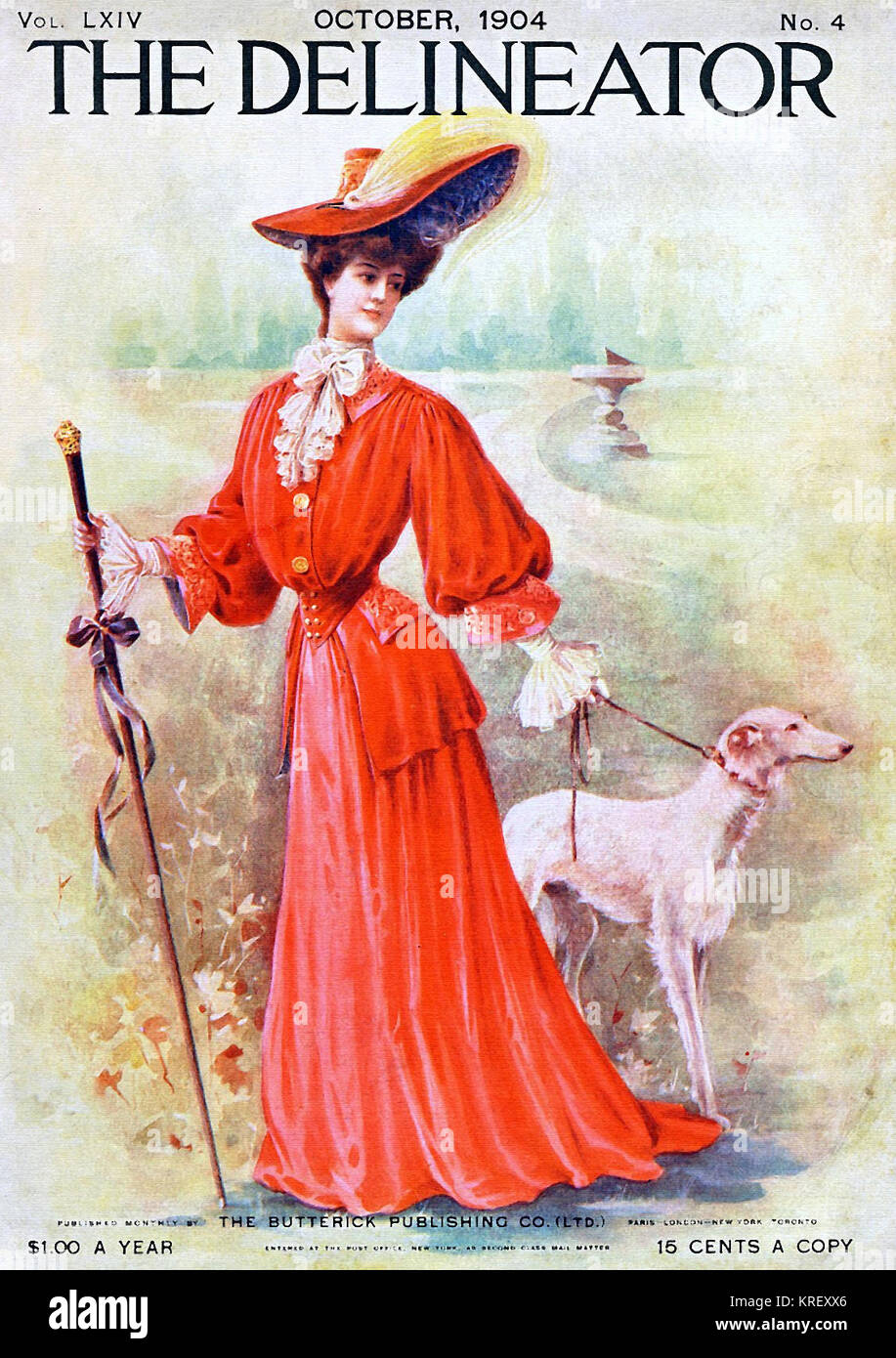 October 1904 Delineator Fashion Magazine - Stock Image