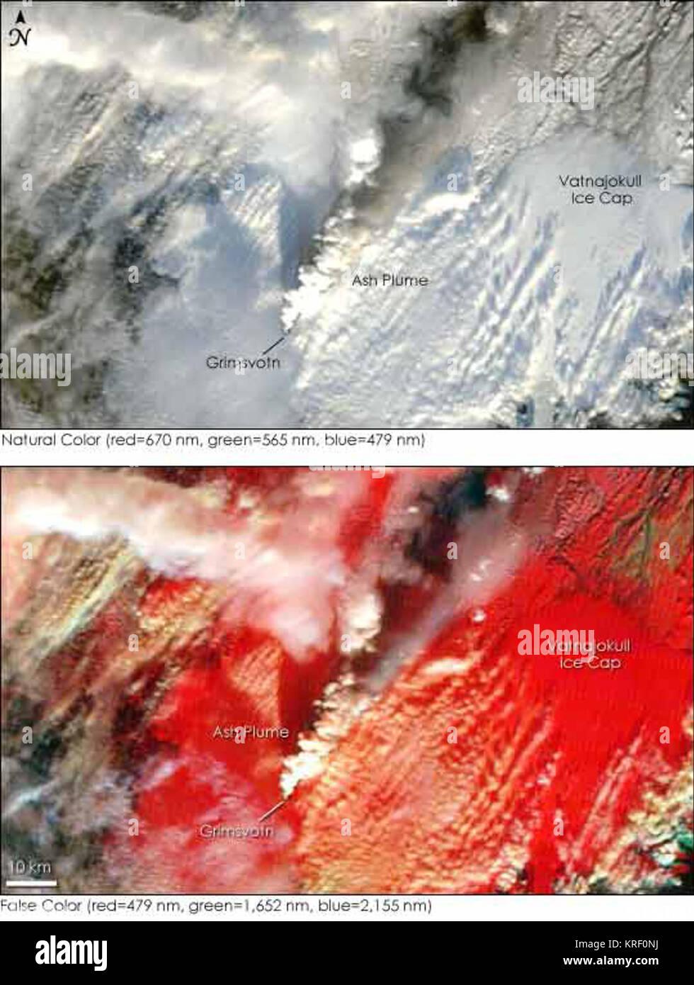 NASA Photo Grímsvötn Nov. 2004 - Stock Image