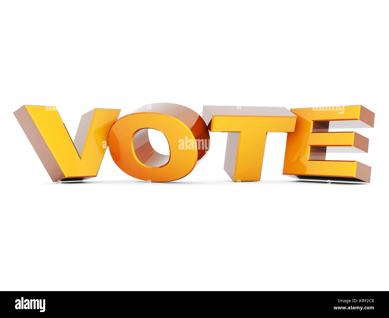 word Vote on a white background isolated Stock Photo