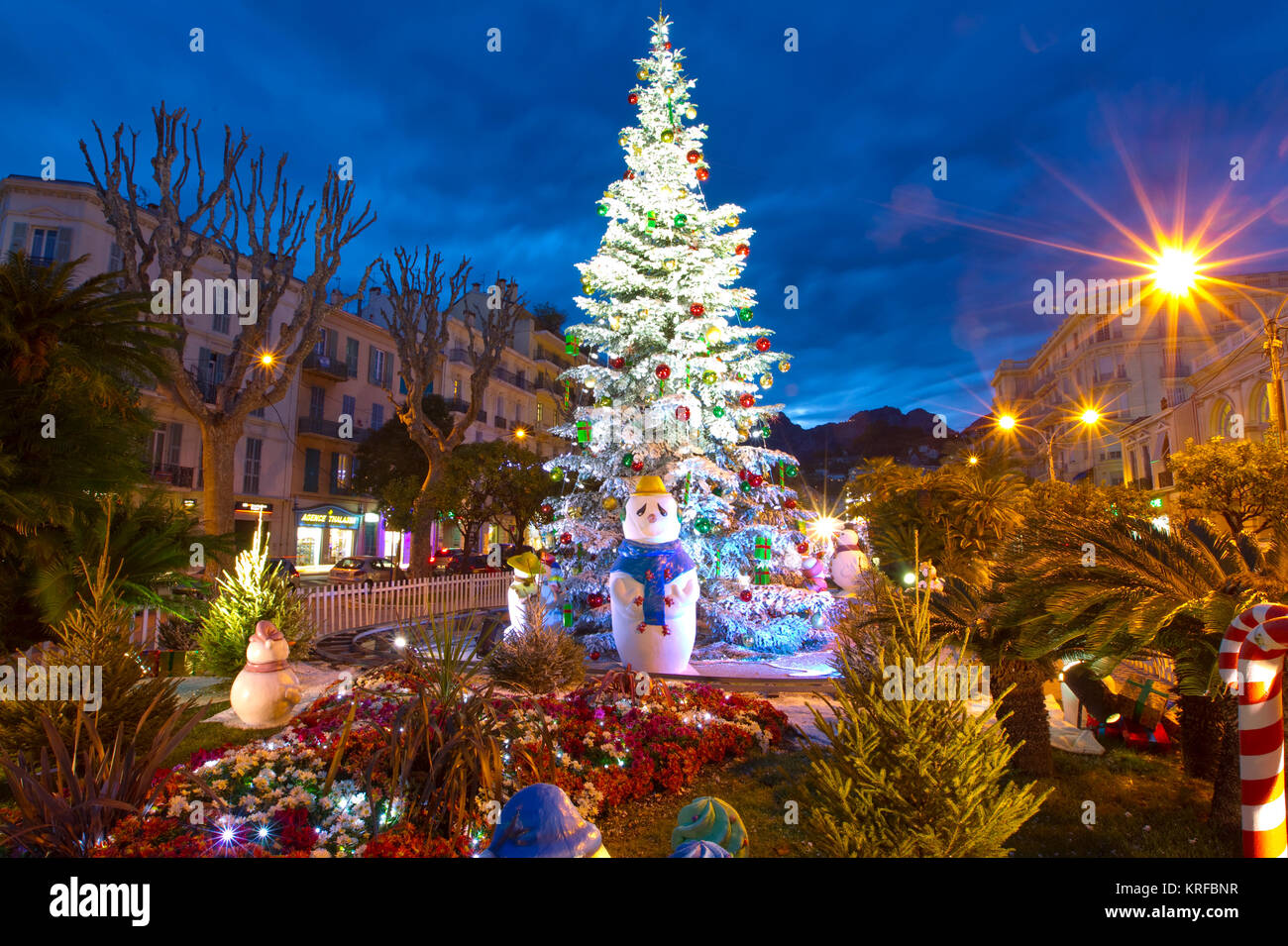 Menton, France. 19th Dec, 2017. Menton, France - December 19, 2017 ...