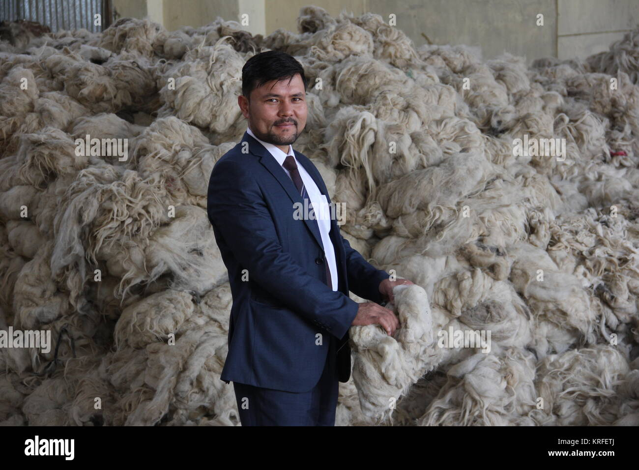 Kabul, Afghanistan. 30th Oct, 2017. The director of the Afghanistan Rug and Carpet Centers (ARCC), Dildscham Manan - Stock Image