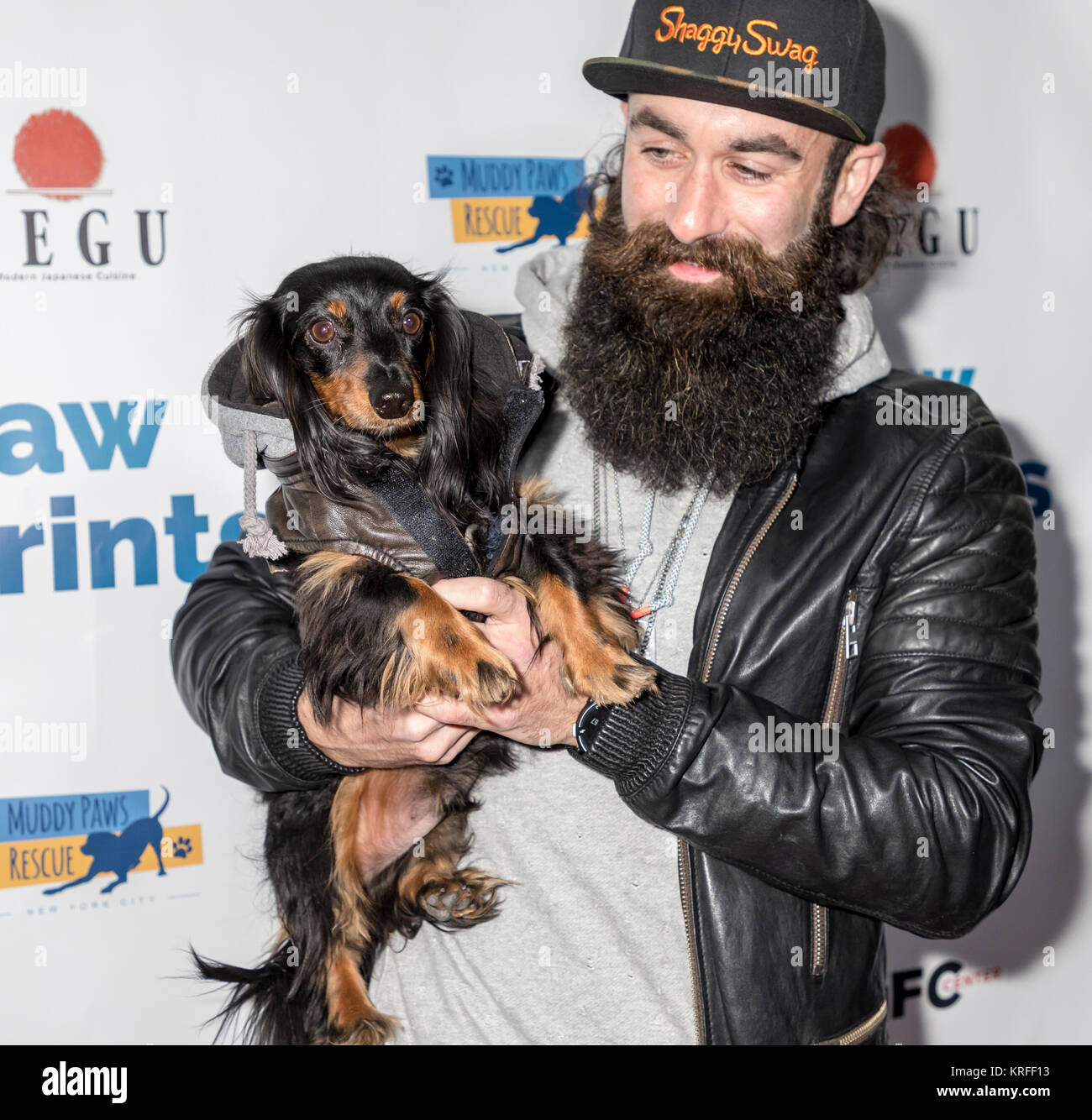 "New York, NY, USA - December 19: Jerry ""Brows"" Powers at the Paw Prints 1st Annual Paw-liday party screening of Stock Photo"