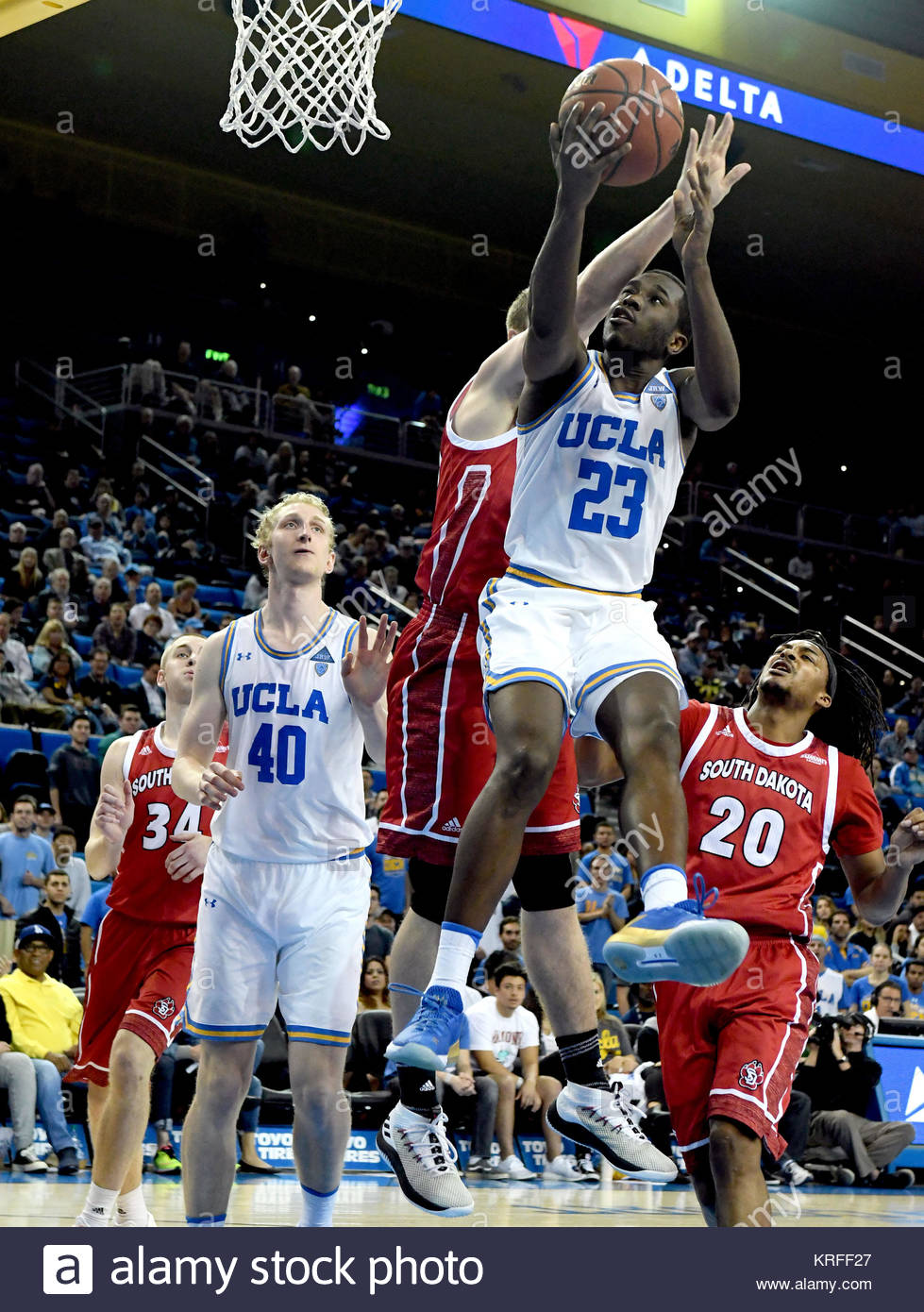 Westwood, California, USA. 19th Dec, 2017. UCLA Bruins guard Prince Ali (23) drives to the basket against the South - Stock Image