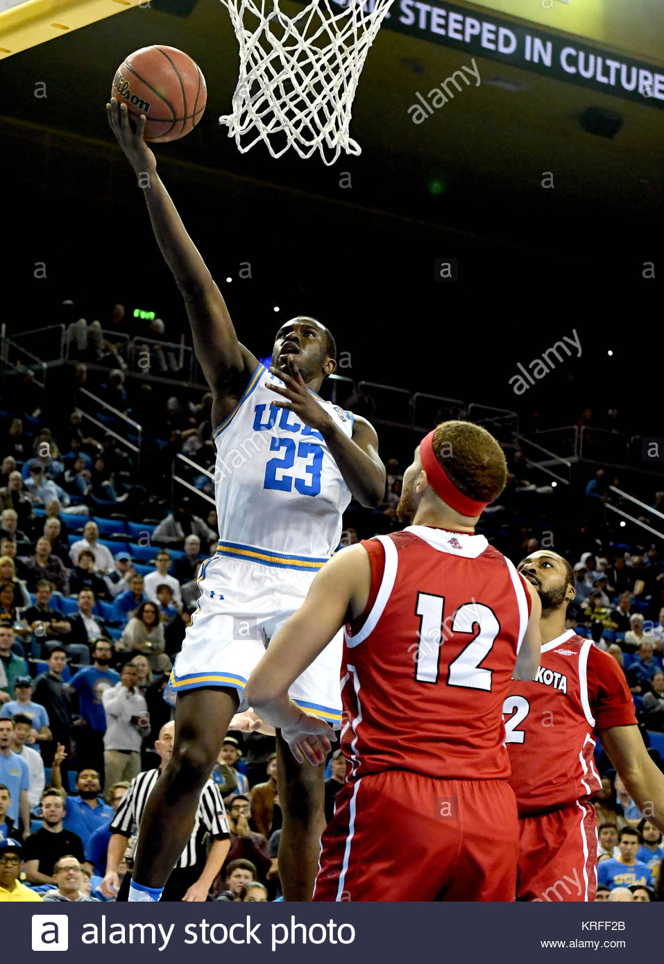 Westwood, California, USA. 19th Dec, 2017. UCLA Bruins guard Prince Ali (23) drives to the basket against South - Stock Image