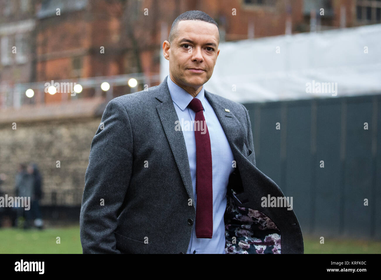 London, UK. 20th Dec, 2017. Clive Lewis, Labour MP for Norwich South, on College Green in Westminster. Credit: Mark Stock Photo