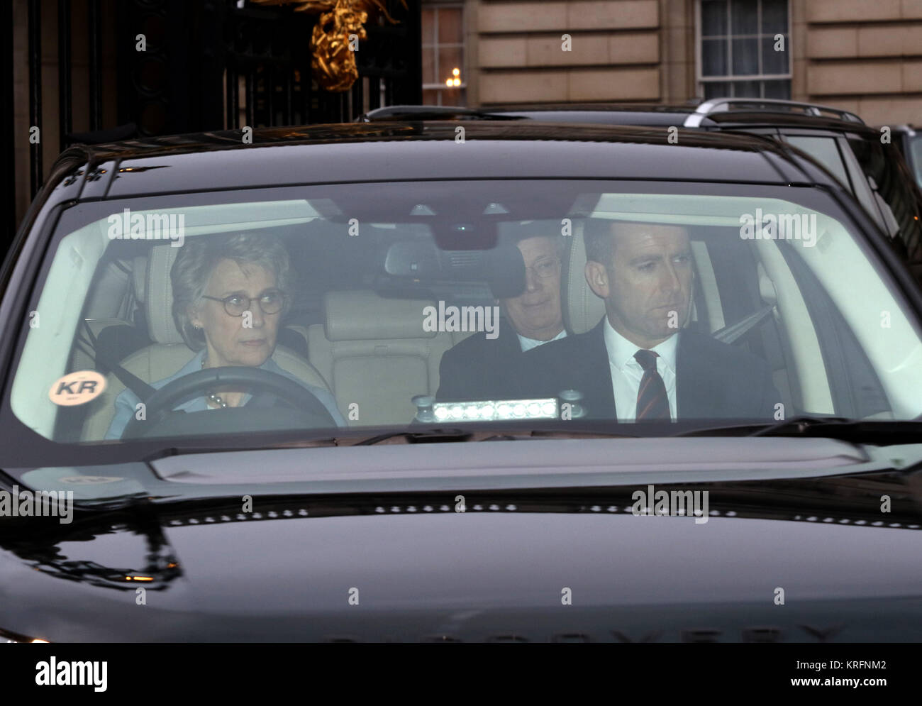 London, UK. 20th Dec, 2017. The Duchess of Gloucester, leaves the HM Queen Elizabeth II annual Christmas lunch, Stock Photo