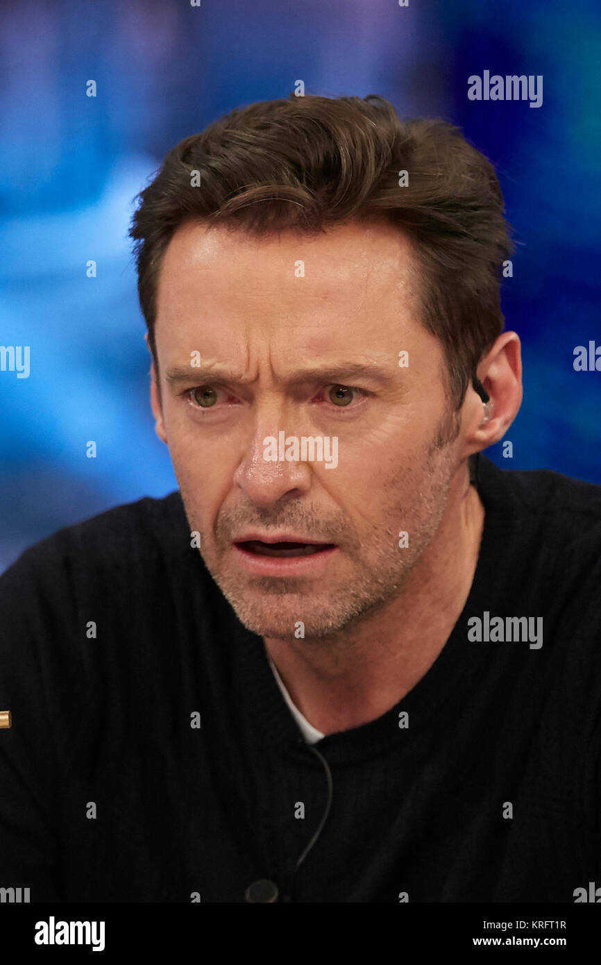 Actor Hugh Jackman visits the TV show 'El Hormiguero' in Madrid. Credit: Gtres Información más - Stock Image
