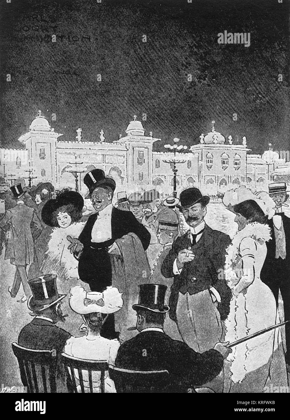 The Welcome Club at Earl's Court, a feature of London amusements in the late 19th and early 20th century, where - Stock Image