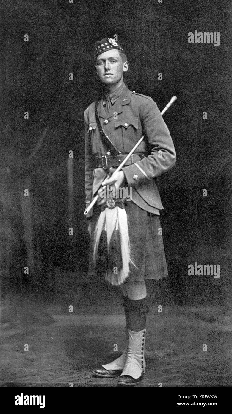 2nd Lieutenant Angus M. Richardson, 2nd Gordon Highlanders, younger son of Lieut.-Col. Edwin Hautenville Richardson, - Stock Image