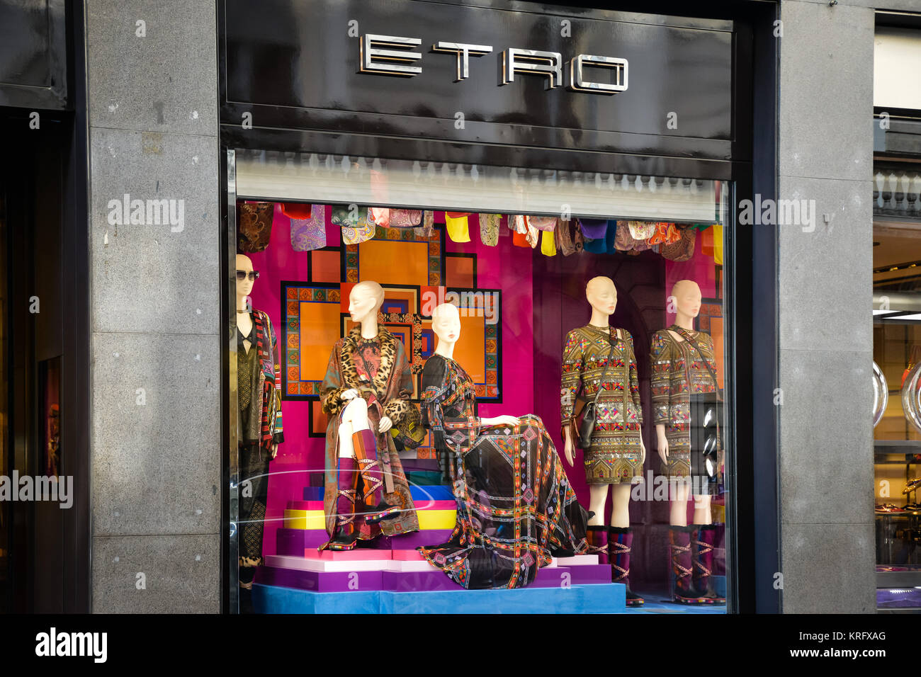 huge selection of 270d6 a94cb Milan, Italy - September 24, 2017: Etro store in Milan ...