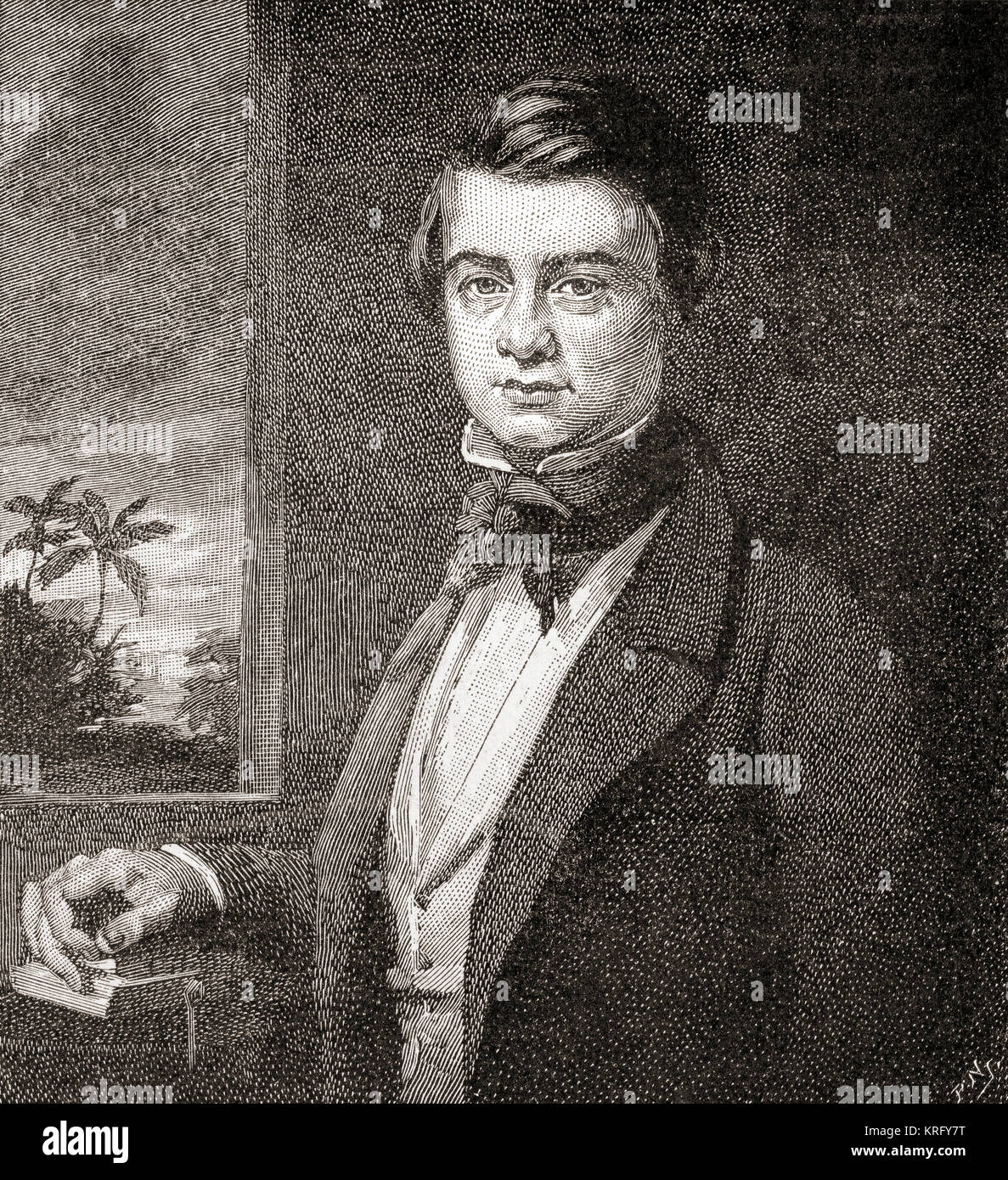 Sir Richard Temple II, 1st Baronet, 1826 – 1902. Seen here aged 20. Administrator in British India and a British - Stock Image