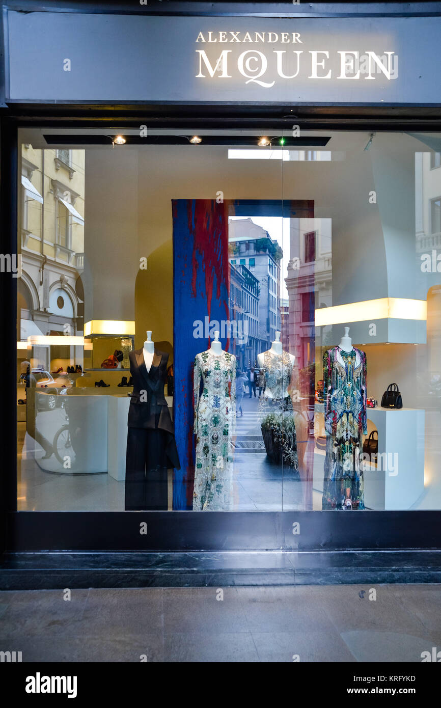 Milan, Italy - September 24, 2017: Alexander McQueen store ...