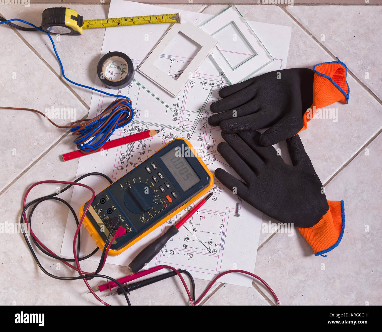 Domestic Electrical Installation Stock Photos & Domestic Electrical ...