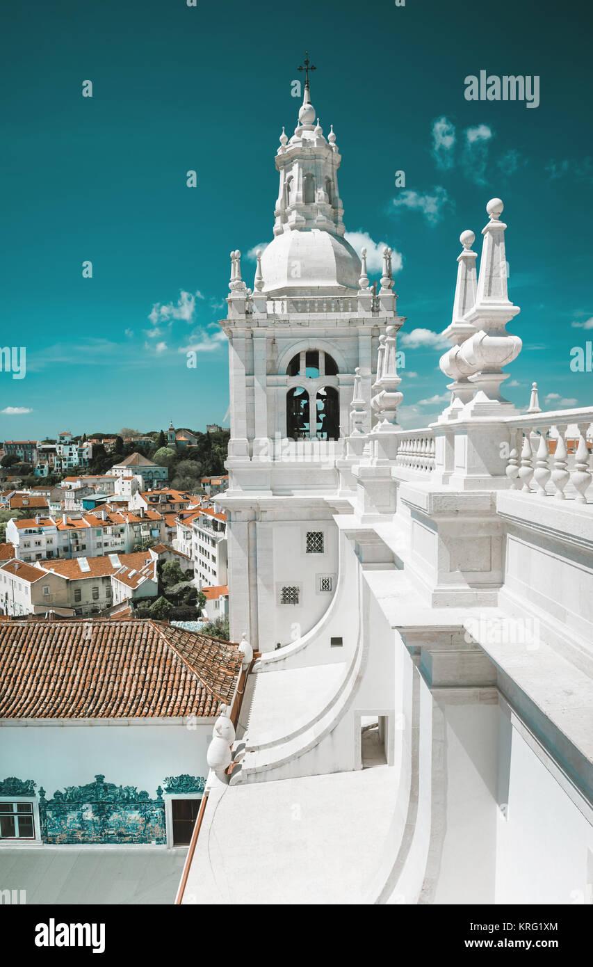 Monastery of St. Vincent Outside the Walls, or Iglesia de Sao Vicente de Fora in Lisbon, Portugal Stock Photo