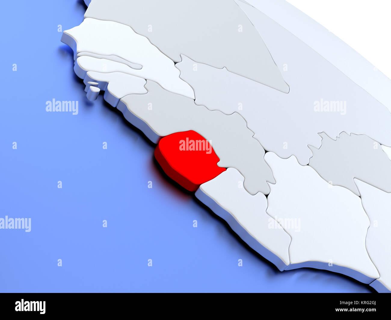 Sierra Leone On World Map Stock Photo 169383666 Alamy
