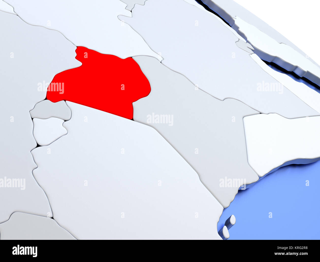 Uganda on world map Stock Photo: 169383852 - Alamy