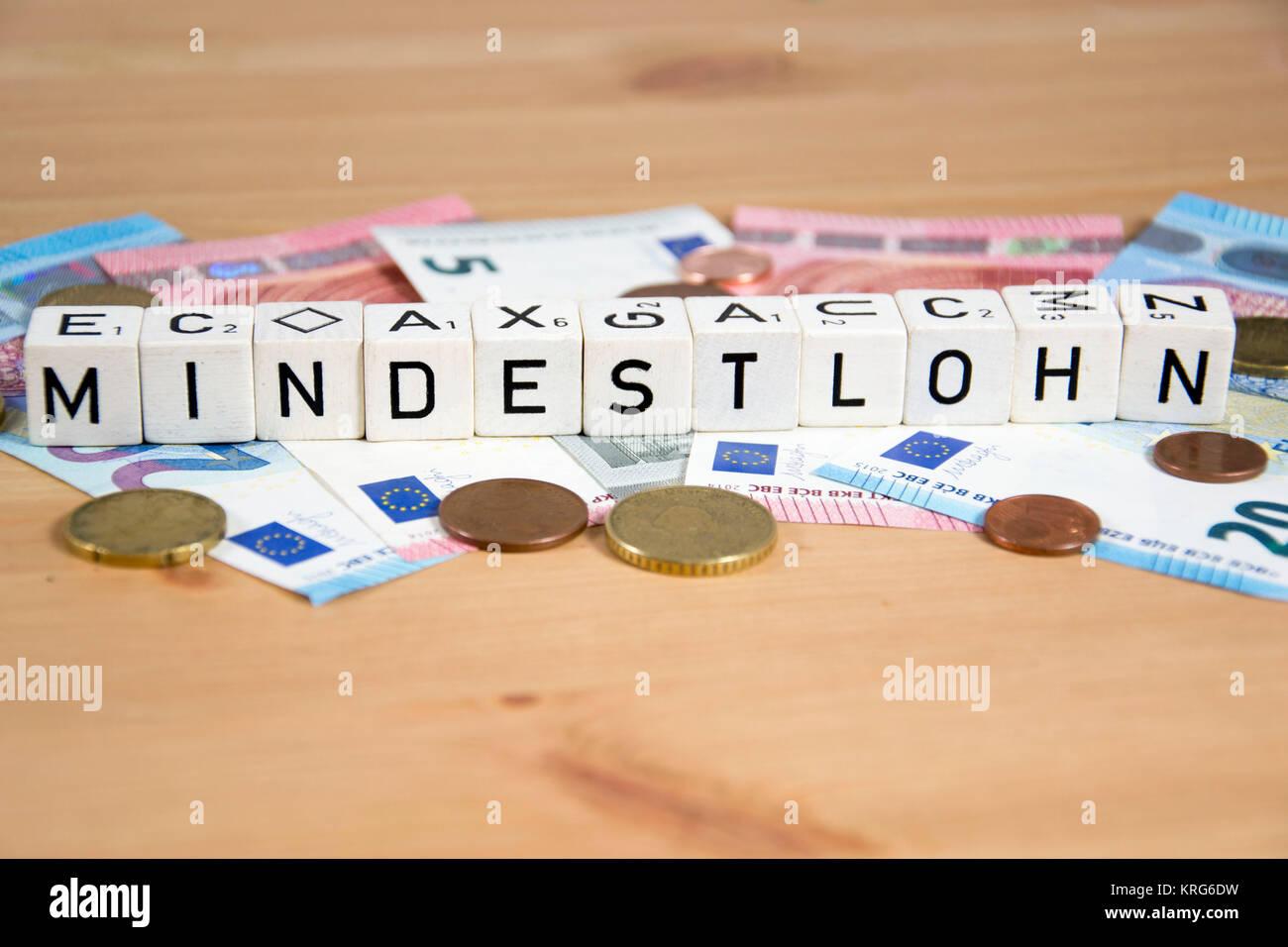 Symbolbild für Mindestlohn Stock Photo