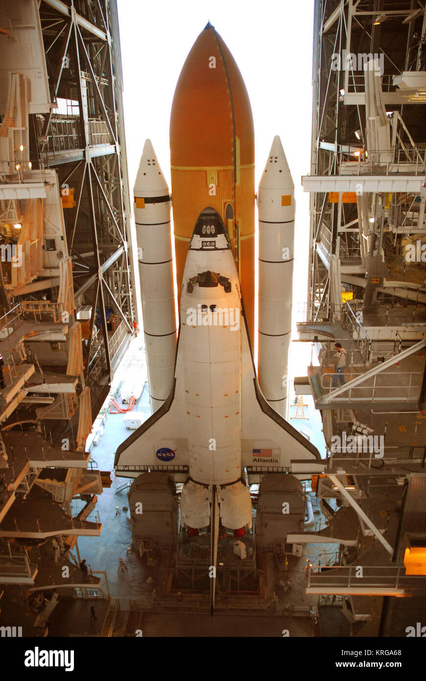 STS-117 rollback6 - Stock Image