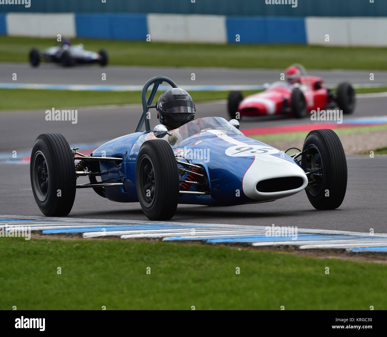Robs Lamplough, Brabham BT2, FJHRA, Championship, pre-64 Front and Rear Engined Formula Juniors, Donington Historic - Stock Image