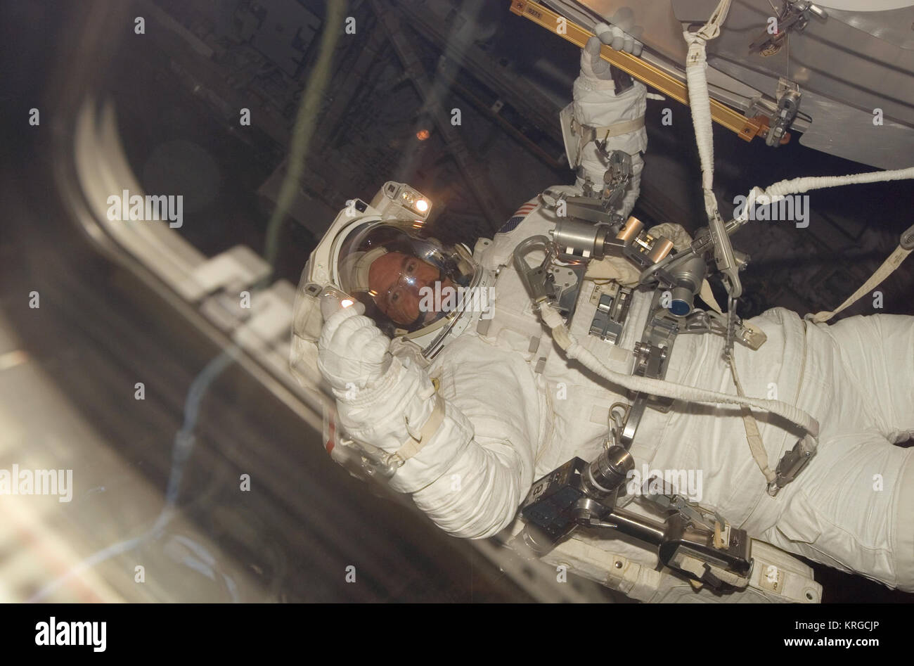STS-117 EVA3a - Stock Image