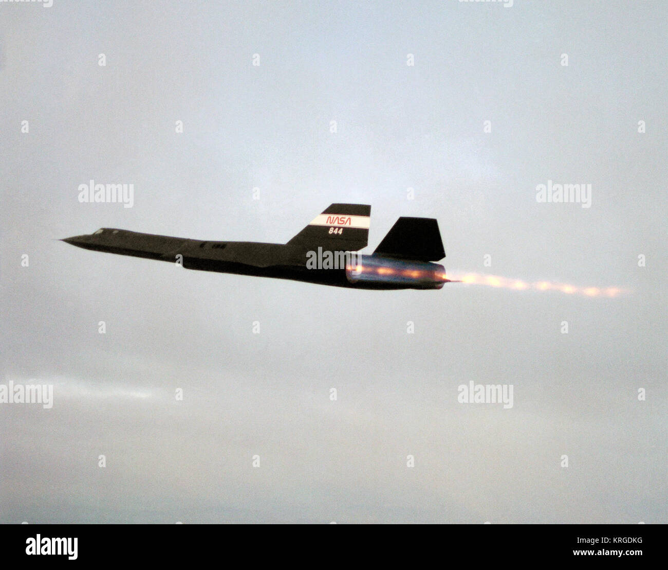 SR-71 Blackbird afterburn Stock Photo