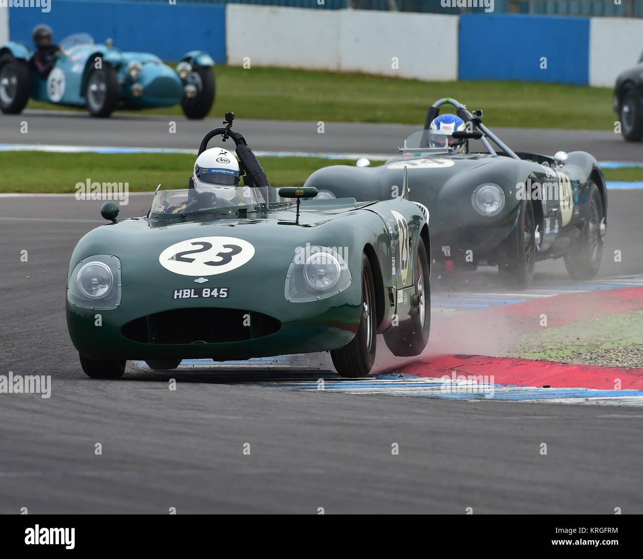 Barry Wood, Will Nuttall, RGS Atalanta, Royal Automobile Club, RAC, Woodcote Trophy, pre-56 sports cars, Donington Stock Photo