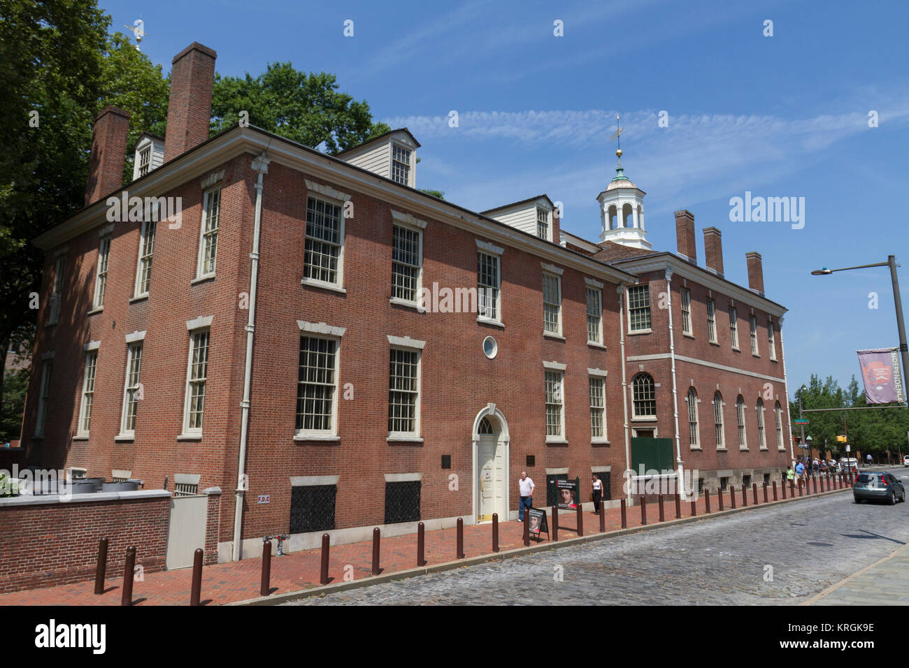 Philosophical Hall (left) and Old City Hall (right), Philadelphia, Pennsylvania, United States. - Stock Image