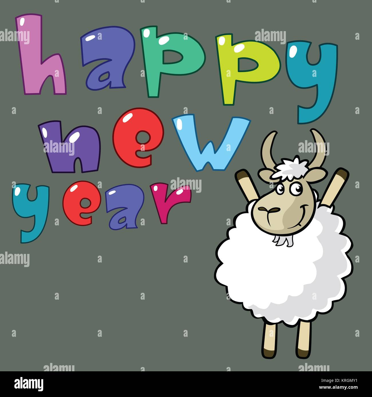 2015 happy new year stock image