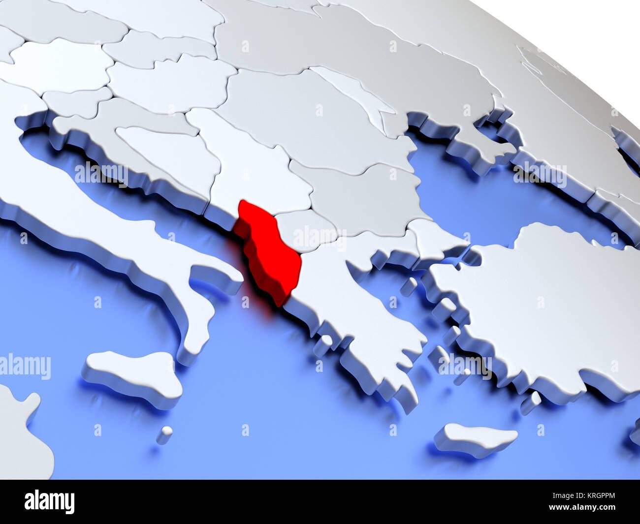 Albania On World Map Stock Photo 169399516 Alamy