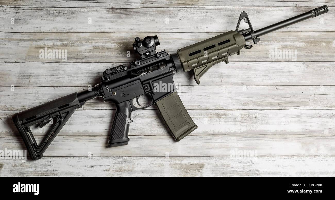 AR-15 Carbine Rifle - Stock Image