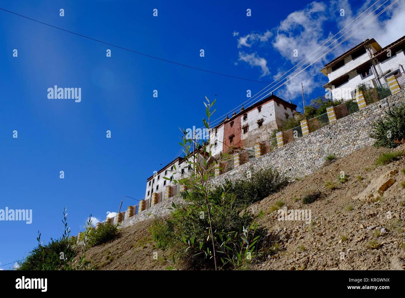 Key Buddhist Monastery Kye Gompa biggest monastery in Spity Valley Himachal Pradesh India - Stock Image