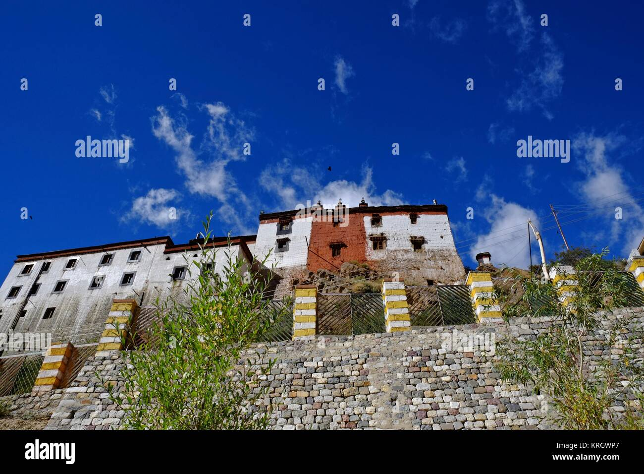 Key Buddhist Monastery Kye Gompa biggest monastery in Spity Valley Himachal Pradesh India - Stock Image