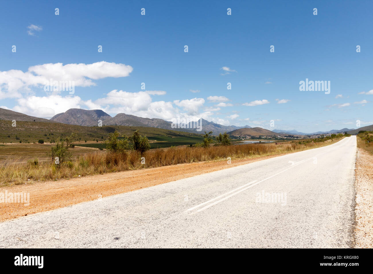 Road Lines Leading to NoWhere - Stock Image