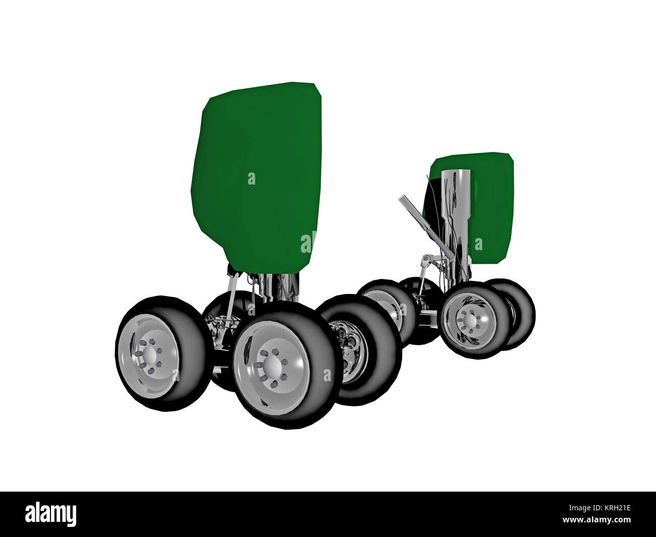 optional undercarriage of aircraft - Stock Image
