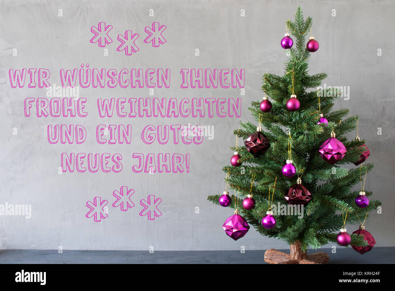 Frohe Weihnachten Und Happy New Year.German Text Frohe Weihnachten Und Gutes Neues Jahr Means Merry Stock