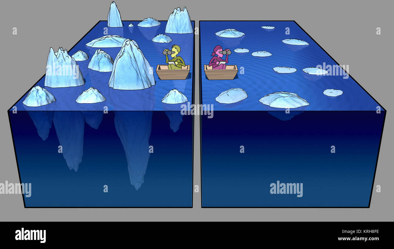 CIBER NASA Iceberg analogy PIA18850 - Stock Image
