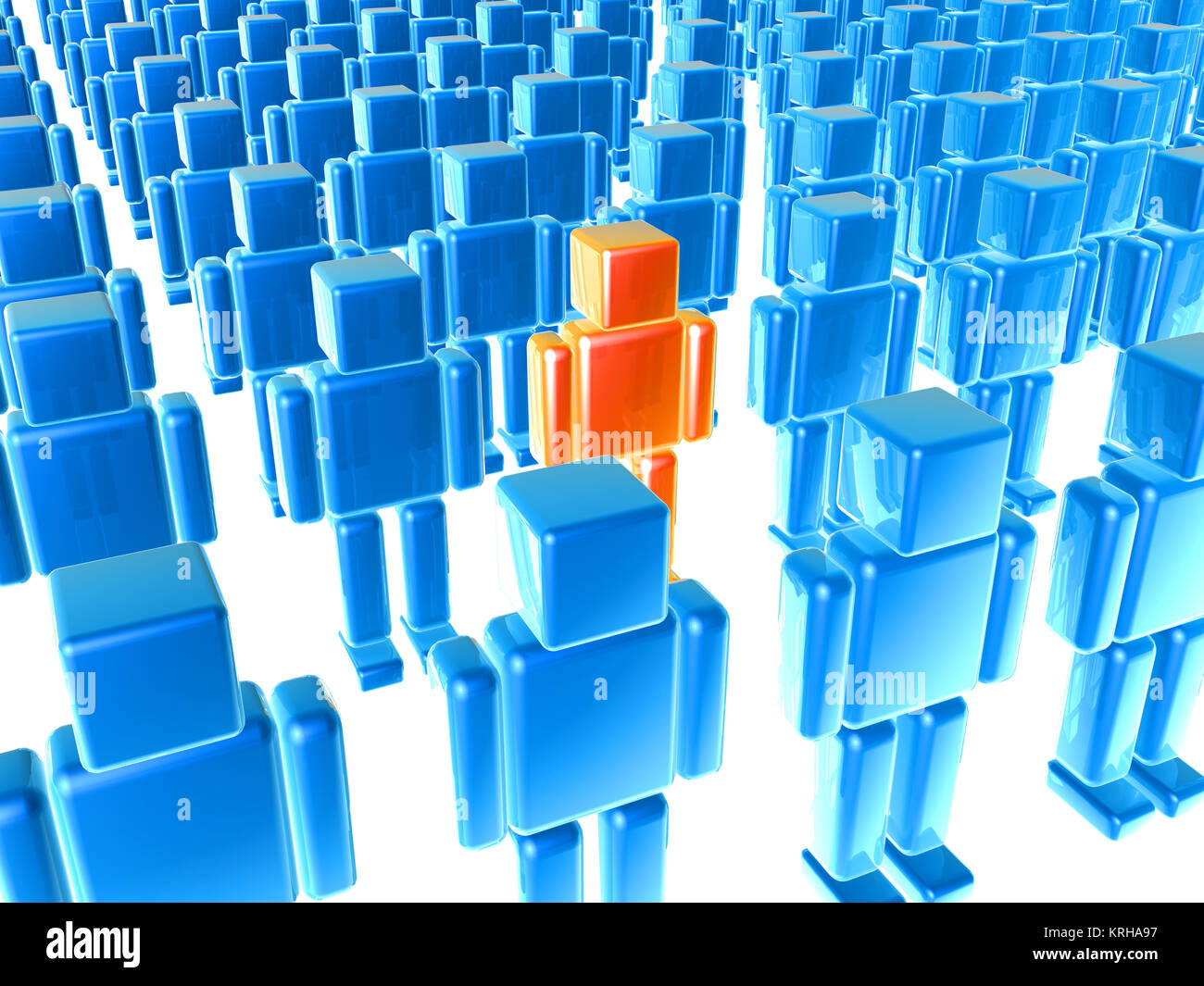3D Illustration. The outstanding One. - Stock Image