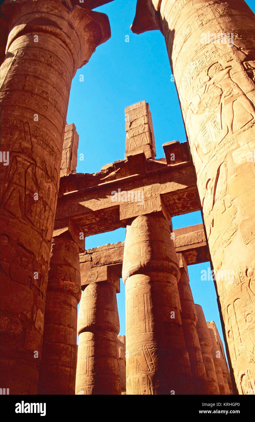 Great Hypostyle Hall,Temple of Karnak,Egypt - Stock Image