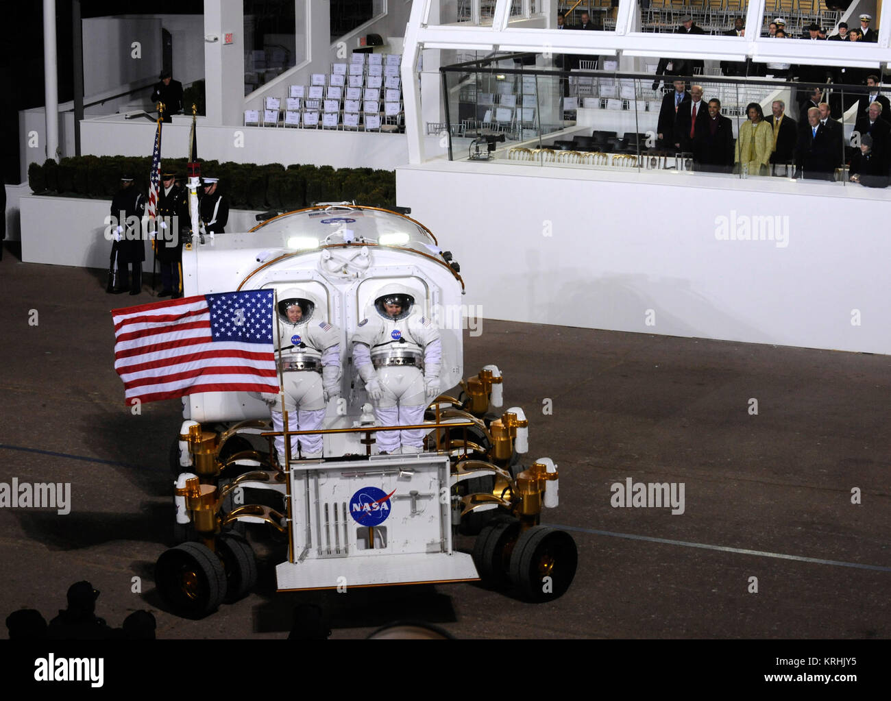 Photo Credit: (NASA/Bill Ingalls) Lunar Electric Rover at 2009 Presidential inauguration parade 2 - Stock Image