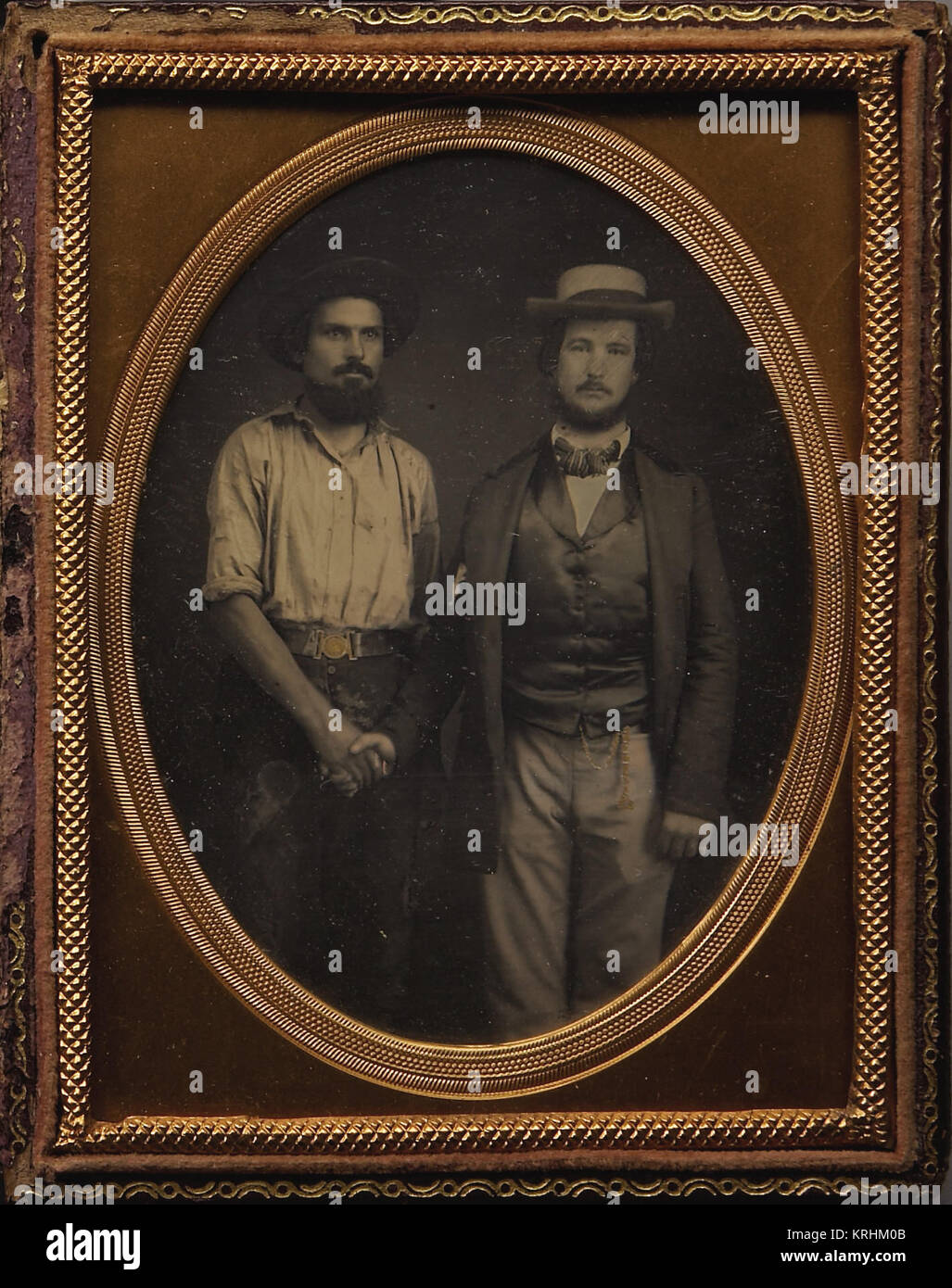 California 'Gold Miner' & Prominent Western Gold Rush Gentlemen Ca. 1850S - Stock Image