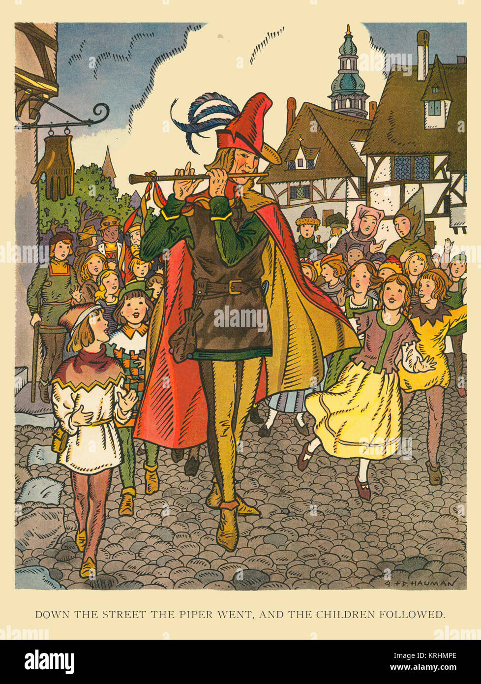 Pied Piper of Hamelin - Stock Image