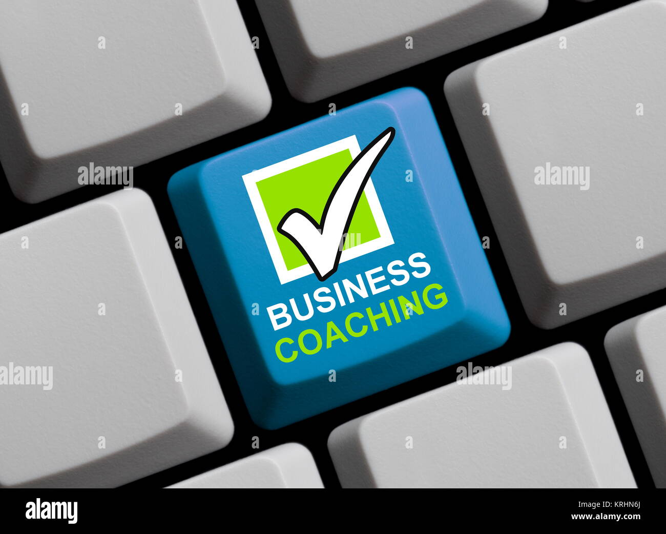 business coaching online - Stock Image